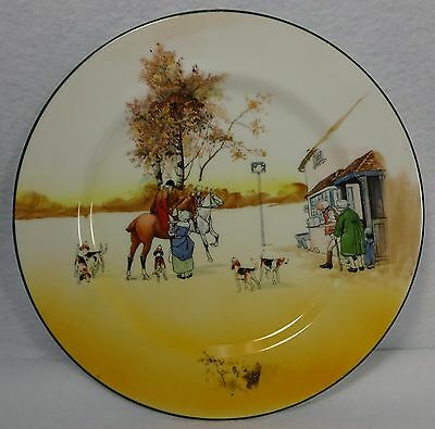 """ROYAL DOULTON china HUNTING E3804 pattern Luncheon Plate #4A - 9"""""""