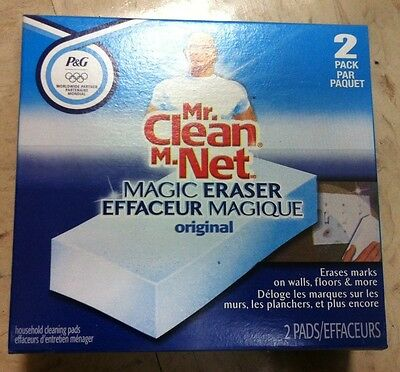 P&g 01494 Mr Clean Magic Eraser 2/pack Household Cleaning Pads Effaceur Magique