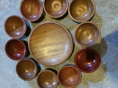 african handmade wood container set or home decor 11 pieces