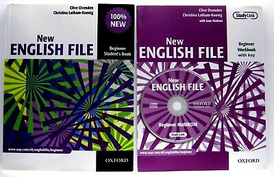 Oxford NEW ENGLISH FILE BEGINNER STUDENT'S BOOKS AND WORKBOOK WITH DVD AND MP 3