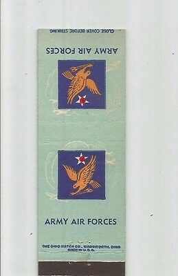MATCHBOOK COVER Army Air Forces