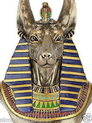 Ancient Egyptian Underworld God Sculptural Jackal Dog Collectible Bust Replica