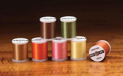 Veevus 8/0 SuperFine Fly Tying Thread | Choice of Colour | Superior Breaking Str