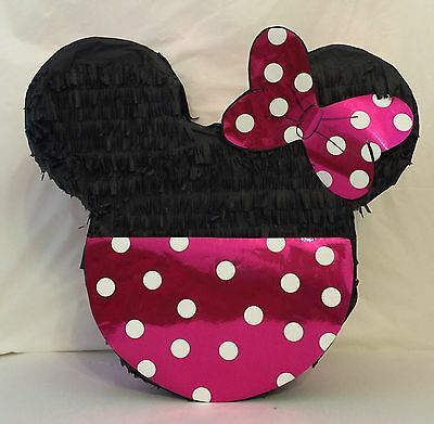 Pinata Minnie Mouse Inspired Pink Bow & Bottom