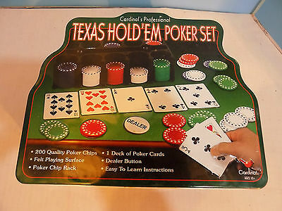200+100 Texas Hold'em Cardinal Professional Poker Chips