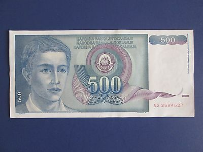 YUGOSLAVIA (Now: SERBIA) BANK  NOTE, 500 Dinara, 1990, uncirculated