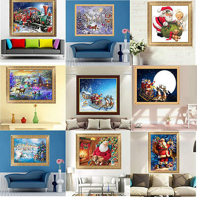 Merry Christmas 5D Diamond Painting Embroidery DIY Craft Cross Stitch Art New