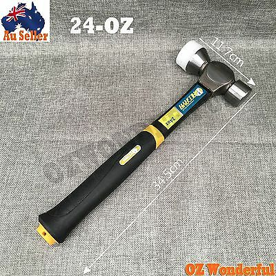 Two-Way Double Head Mallet With Plastic Coating Rubber Handle 24-OZ Hammer
