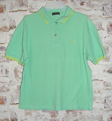 "Boys XL 35"" chest vintage Fred Perry short sleeve polo shirt green (GA84)"