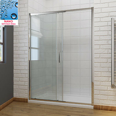 Sliding Shower Door Enclosure Screen Cubicle 6/8mm Glass Free NextDay Delivery