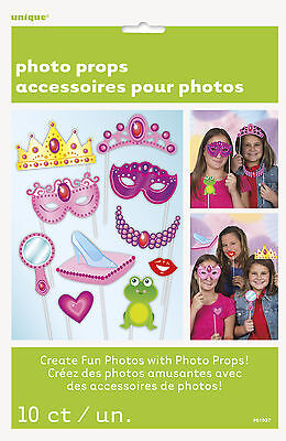 Princess Photo Props Ideal For Childrens Party Photo Booth Multi 10 Pieces