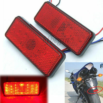 2x Motorcycle Universal LED Turn Signal Tail Brake License Plate Stop Lights 12V