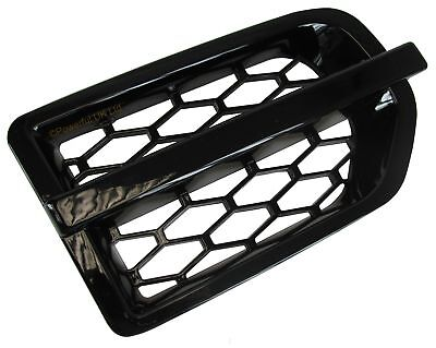 Gloss Java Black Disco 4 style wing vent grille for Land Rover Discovery 3 LR3