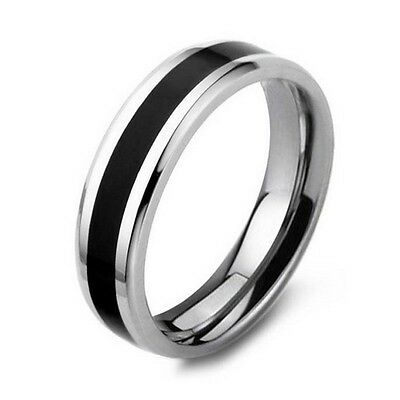 316L Stainless Steel Black White Ring Women/Men (R800-39)