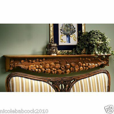 "47.5"" fire place mantels and pediments Walls doors hand carved solid hardwood"