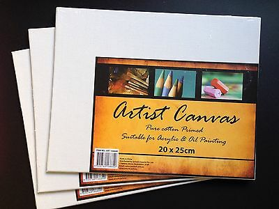 (OUT OF STOCK) 10x Blank Artist painting canvas Board 20cmx 25cm