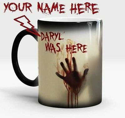 WALKING DEAD PERSONALIZED NAME ZOMBIE Magic Color Changing Coffee Mug Tea Cup