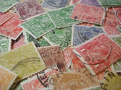 Australian Predecimal KGV Head Stamps Bulk Lots of 30 Stamps