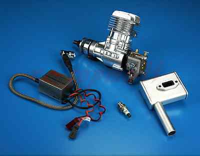 DLE 20CC Gasoline Engine W/ Electronic Igniton & Muffler For RC aircraft