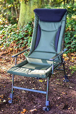 Fishing Chair - Extra High Padded Back, Recliner, Adjustable Legs,  *FREE P&P*