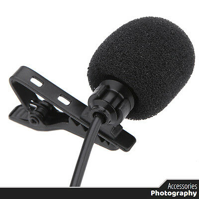 3.5mm Metal Mono Microphone Lavalier Clip Microphone for Lound Speaker with Clip