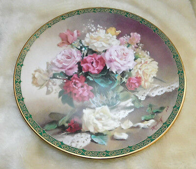 """Victorian Beauty"" by Vieonne Morley Romantic Roses W. S. George collector plate"