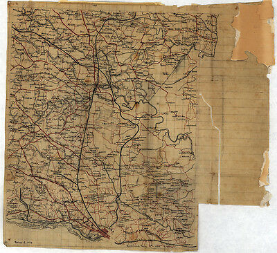 1864 Map of Henrico Hanover and Caroline County Virginia
