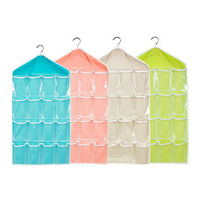 16 Pockets Hanging Door Wall Mounted Home Clothing Storage Bags Organizer