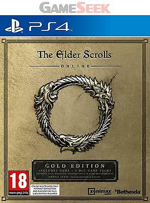 The Elder Scrolls Online Gold Edition - Playstation Ps4 Brand New Free Delivery