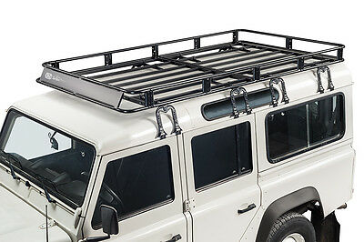 Full safari style basket roof rack for 5 door Land Rover Defender 110 year 1983+