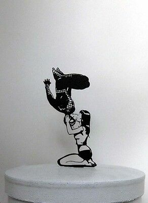 Wedding Cake Topper - Spiderman and Mary Jane silhouette cake topper