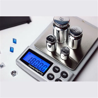500g x 0.01g Digital Scale Gold Silver Jewelry Weight Balance Tool Device