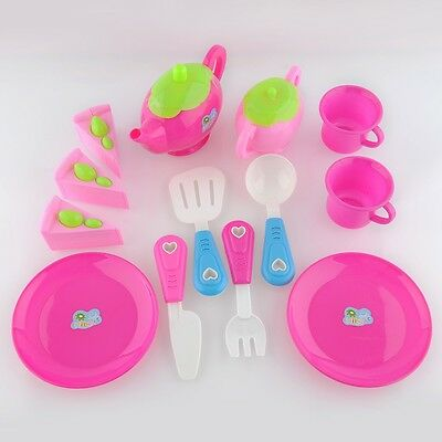 1 Set Plastic Pretend Play Set Afternoon Tea Dishes Teapot Gift Fun Play+Learn