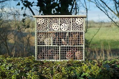 9 ROOM INSECT HOTEL Wildlife World Wood Bees Insects Bugs | FREE Fast Delivery!