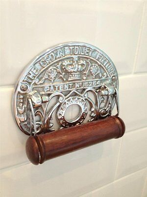 Traditional Crown Vintage Design Victorian Toilet Roll Holder Solid Brass Nickel