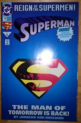 Reign of the Supermen - Superman in Action Comics #78 June 1993 DC NM (9.4)