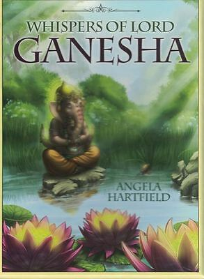 Whispers of Lord Ganesha Oracle Cards by Angela Hartfield NEW & Sealed