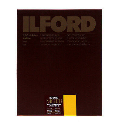 Ilford Multigrade FB Warmtone Fiber Base Paper (8 x 10in, 25 Sheets, Semi-Matte