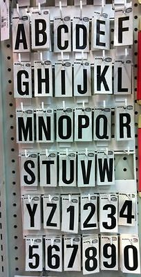 REFLECTIVE LETTERS/NUMBERS FOR MAILBOXES/HOUSES/SIGNS sold individually plastic