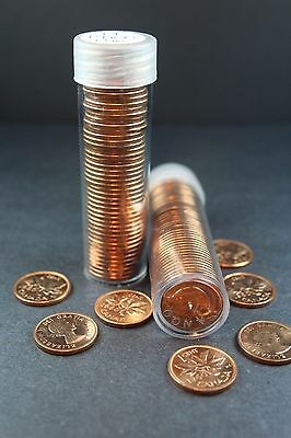 Canada 1 Cent Penny Collection - 1960 Roll (50  Coins) - Uncirculated - Look!