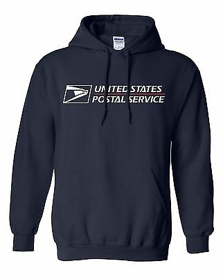 USPS POSTAL HOODED SWEATSHIRT POSTAL LOGO ON CHEST All Sizes S-3XL FREE SHIPPING