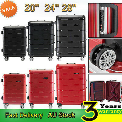 4 Wheel Luggage Suitcase Trolley TSA Travel Carry On Bag Hard Case Lightweight