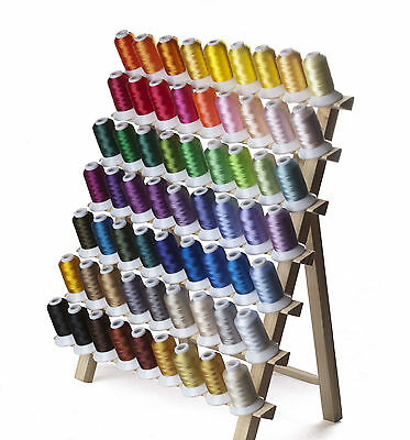 SIMTHREAD 40Wt Polyester Embroidery Machine Thread Spools- 63 Brother Colors/kit