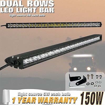 31inch 150W CREE LED Light Bar Single Row Combo Beam for Jeep Offroad Truck 12V