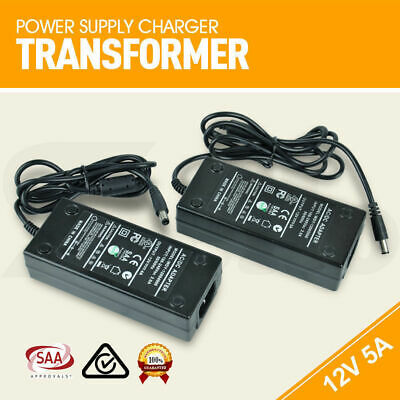 AU 12V 5A SAA Power Supply Charger Transformer 3528 5050 LED Strips Adapter