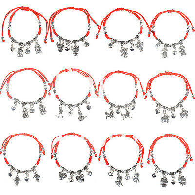 Chinese Zodiac Asian Lucky Rope Bracelet Red String Jewelry Feng Shui Fortune