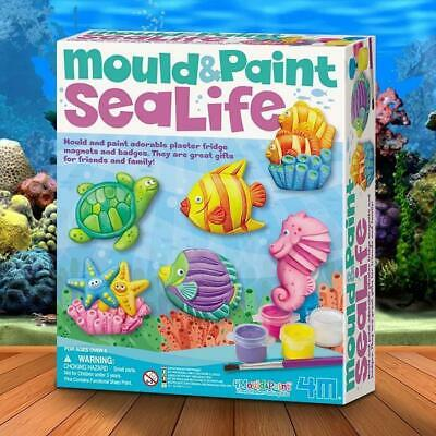 Mould And Paint Sea Life Kit | plaster set pack craft art kids