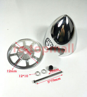 "Miracle 4.5""/114.30mm Special Drilled Standard Aluminum Prop Spinner W/ 2 Blades"