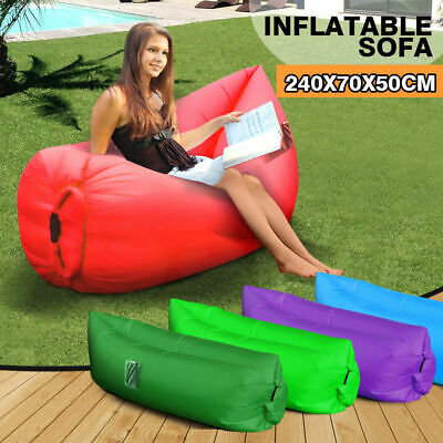Mountview Air Bag Sofa Bed Fast Inflatable 2Side Pockets Lounge Sleeping Camping