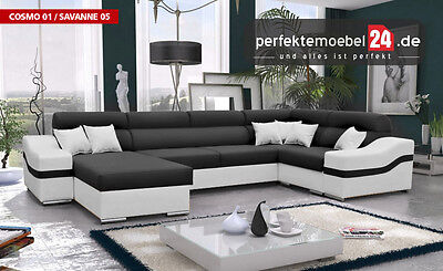 wohnlandschaft nassau u form wei innocent polster sofa wohnen wohnzimmer 09919 eur. Black Bedroom Furniture Sets. Home Design Ideas